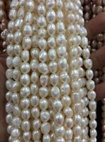 Wholesale african loose beads for sale - Group buy 8 MM White irregular freshwater pearl loose beads quot