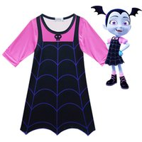Wholesale cosplay women costumes for sale - Vampirina girls dresses years old baby girls long sleeves dress Vampirinas Cosplay Costumes Dress kids clothing MMA383