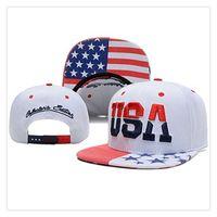 amerikan bayrağı snapback şapka toptan satış-Ayarlanabilir Birleşik Devletleri Beyzbol Şapkası Şapka Serin Ve Moda ABD Amerikan Bayrağı Snapback Kap