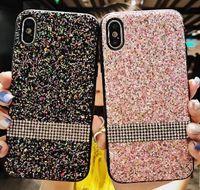 ingrosso samsung star gold-Custodia per telefono bling diamantata per Iphone 7 I7 Iphone7 6 Plus 6S Cover glitterata con lamina d'oro per stelle dorate