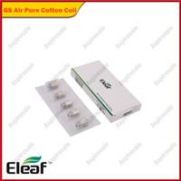 eleaf basic großhandel-Eleaf GS Luftzerstäuberkopf Kopf aus reiner Baumwolle 1,2 Ohm 0,75 Ohm Ersatzspule Passend für GS Luftzerstäuber für iStick Basic Kit