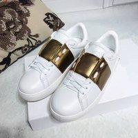 faz fronteira com apartamentos de couro venda por atacado-Flatform designer de sapatos de desporto de luxo apartamentos impermeáveis Conselho Buckle branco calçados casuais para homens limitaram o couro de Preços por Atacado