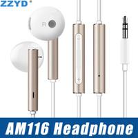 control remoto universal de metal al por mayor-Auricular del metal de ZZYD 3.5mm con el auricular teledirigido del deporte del micrófono para Huawei P7 P8 P9 Mate 7 8