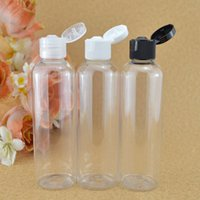 leere klare behälter großhandel-40pcs / lot 100/120/150 / 200ml durchsichtigen Kunststoff Shampoo Flasche, Flip Cap, leere Creme Container, nachfüllbare Lotion Flasche, PET-Glas Click Top