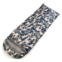 Wholesale ultralight sleeping bag down - Mounchain White Duck Down Sleeping Bag Ultralight Outdoor Adult Camouflage Color Thick Warm Bivy Sack in Winter