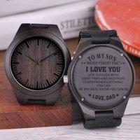 grandes presentes para o aniversário venda por atacado-Relógios De Madeira gravado Personalizado Família Presente de Aniversário Grandes Presentes Gravação Relógio de Pulso Relogio masculino