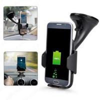 araba tutacağı şarj cihazı toptan satış-Kablosuz Hızlı Araç Şarj Standı Tutucu Samsung S8 Not 8 iPhone 8 / X Kablosuz Şarj Araç Tutucu CCA9608 100 adet