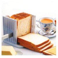 ekmek dilimleyici tostları toptan satış-Plastik Ekmek Dilimleme Tost Loaf Sandviç Kesici Kalıp Pişirme Araçları Mutfak Gadget Gıda Sınıfı Plastik Araya Tipi