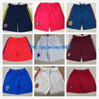 Wholesale new europe - New France Portugal Brasil soccer shorts Europe size 2018 World Cup home away shorts 18 19 football shorts