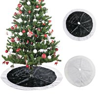 ingrosso ornamento decorazioni di ricami-Gonna per albero di Natale Xmas Ornament 90cm Large Grey Star Peluche Embroidery Skirt per la decorazione di Capodanno