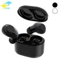 Wholesale communication bluetooth - X6 TWS Bluetooth Earphone True Wireless Stereo Earbud Waterproof Bluetooth Headset Headphone for Phone HD Communication Portable