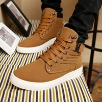 Wholesale 6color Men Shoes Sapatos Tenis Masculino Male Fashion Autumn Winter Leather Boots for Man Casual High Top Canvas Men Shoes