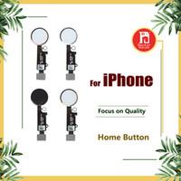 ingrosso iphone più oro-Per iPhone 5 5S 5C SE 6 6plus 6S PLUS 7 8 Plus Home Flex Cable Black Black Rose Gold Assembly
