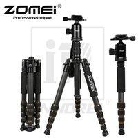 kamerastativfaser großhandel-Zomei Z699C Carbon Fiber Tripod Professionelle SLR-Kamera portable Reise-Stativ Einbeinstativ Kugelkopf für Canon Nikon Sony