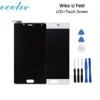 ingrosso wiko lcd-digitizer ocolor Display LCD per Wiko U Feel + Touch Sostituzione schermo originale per digitizer 100% per telefono cellulare Wiko U Feel + Strumenti