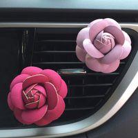 auto accessory al por mayor-Rose Car Humidificador de Aire Aceites Esenciales Difusores Vehículo Purificador de Aire Respiraderos de Clip de Perfume Decoración Accesorios Auto Aroma Fragancia de Coche