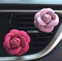 aroma diffuser großhandel-Rose Car Luftbefeuchter Ätherische Öle Diffusoren Fahrzeug Luftreiniger Auto Vents Clip Parfüm Dekoration Zubehör Auto Aroma Auto Duft