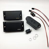 бесплатная доставка для гитар оптовых-EMG 81/85 активный пикап электрогитара шеи и мост хамбакер пикапы в наличии бесплатная доставка