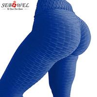 leggings de lycra finos al por mayor-SEBOWEL Pantalones de Yoga Mujeres Elásticos de Cintura Alta Leggings Deporte Fitness Yoga Leggings Push Up Medias Pantalones Corrientes Inconsútiles