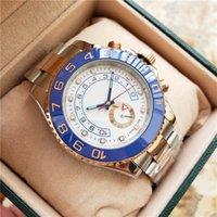 weißgold armbänder für männer großhandel-Luxus Herren Automatik Cal.2813 Keramik Lünette Weiß Zifferblatt Uhren Herren Keramik Lünette 116681 Uhr Herren Stahl Gold Armband 44mm Armbanduhren