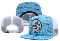 chapeaux de logo sportif achat en gros de-2018 Style de mode en gros Visière plate vanses Baseball Sport Plat Complet Fermé Capsules Os Rouge C logo Couleur Bleu Livraison gratuite