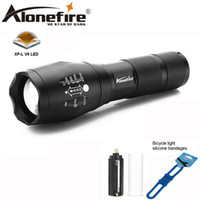 Wholesale Zoomable Focus Flashlight - AloneFire G700 E17 LED Flashlight 18650 Zoomable LED Torch XP-L-V6 led Focus zoom light for 3AAA ro 18650 Battery Aluminum flashlight