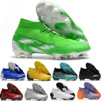 élite originale achat en gros de-2018 Nouvelles chaussures de football Mercurial Superfly VI 360 Elite FG pour hommes SuperflyX KJ XII 12 Ronaldo 6 CR7 Chaussures de soccer Chuteiras Futebol Original
