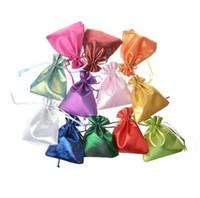 satin tunnelzug geschenk taschen groihandel-Satin-Geschenk-Beutel-Zugschnur-10X12CM Süßigkeitstaschen, Geschenk-Taschen, Make-upsammeln-Sack