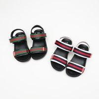 çocuklar için serin çıkartmalar toptan satış-Çocuklar Sandalet 2018 Yaz Yeni Desen çocuk Sihirli Sticker Kauçuk Yumuşak Alt Rahat kaymaz Tek Çocuk ayakkabı Serin