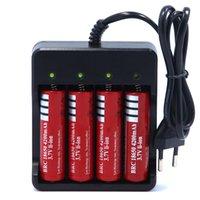 baterias recarregáveis venda por atacado-NOVA UE EUA 4 Slots Carregador de Bateria Inteligente com proteção contra curto-circuito 4 x 18650 bateria recarregável de Li-Ion de íon de lítio