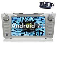 tela sensível ao toque do camry venda por atacado-Android 7.1 Car Radio Leitor de CD Carro GPS Estéreo de navegação DVD do carro para Toyota Camry 2007- 2012 no Dash HeadUnit Receiver