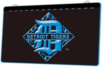 ingrosso segno luci al neon di baseball-LS872-b-Detroit-Tigers-Baseball-Bar-Neon-Light-Sign Decor Spedizione Gratuita Dropshipping All'ingrosso 6 colori tra cui scegliere