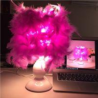 mesas de lâmpada roxa venda por atacado-12 V Lâmpada de Mesa Usb Led Roxo Quarto Candeeiros de Estudo de Cabeceira Levou Lâmpada de Leitura Home Decor Luzes Livro Candeeiros De Mesa