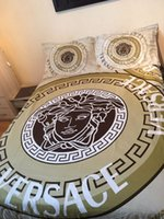 ingrosso la copertura del duvet posiziona lenzuola-2019 Set di biancheria da letto in cotone reattivo di alta qualità 4 pezzi include copripiumino Lenzuolo Federa Lenzuolo