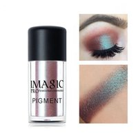 Wholesale wholesale loose glitter for sale - New IMAGIC Pro Glitter Eyeshadow Loose Powder Shimmer Eye Shadow Nude Pigments Metallic Sparkling Makeup Powder