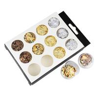 гвозди золотые шпильки оптовых-Colorful Gold Silver 4 Colors Tinfoil 3D Nail Art Decorations Gliers DIY Stickers Nails Studs ZP115