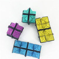 Wholesale pressure building - Creative Fingertips Building Blocks For Adult Reduced Pressure Toy Magic Cube Educational Toys Multi Color 7 06jx C