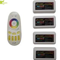 tela de zona venda por atacado-Kingoffer Milight 2.4G 4 zona Touch Screen Remoto RF + Controlador DC12-24V Dimmer Para 3528 5050 RGBW RGBWW CONDUZIU a Luz de Tira
