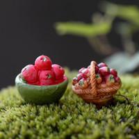 ingrosso piante per giardini fiabeschi-3Pcs Figurine in miniatura Misto in resina Frutta Mela Pianta Fai-da-te Fairy Garden Ornaments Decorazione della casa Micro Terrarium Decor