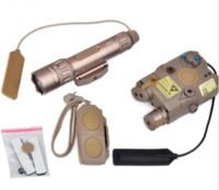 linterna de control remoto al por mayor-Tactical Gun Light Combo incluye PEQ 15 WMX-200 linterna interruptor de control remoto doble (EX 418) para la caza al aire libre