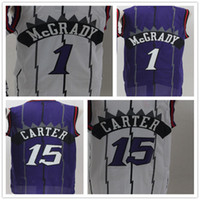 Wholesale basketball jersey material - Throwback 3 Tracy McGrady 15 Vince Carter Basketball Jersey Shirt Rev 30 New Material Uniforms Retro Top Quality Men Jerseys