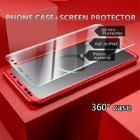 Wholesale Edge Protectors For Shipping - Ultra-thin Hybrid 360 Degree Full Body Protective Case Cover with Screen Protector for SAMSUNG S7 EDGE S8 S8PLUS S9 S9PLUS NOTE 8 FREE SHIP