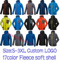 Wholesale hiking jackets for men - Wholesale MEN Outdoor Shell Jacket Winter Brand Hiking Softshell Jacket Men Windproof Waterproof Thermal For Hiking Camping