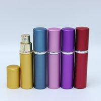 neue reise parfüm zerstäuber spray flasche großhandel-Neue freigegebene 5ml Mini Spray Parfüm Flasche Reisen nachfüllbar leere Kosmetikbehälter Parfüm Flasche Zerstäuber Aluminium Mehrwegflaschen