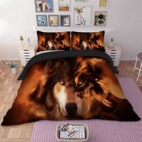 ingrosso coperture per animali-Federa biancheria da letto per cani Set Completo matrimoniale Queen King REGNO UNITO Biancheria da letto di dimensioni doppie con animali Set copripiumini 3D 3 pezzi