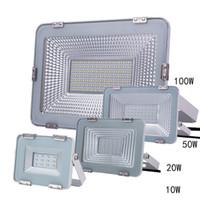 luces de inundación llevadas smd al por mayor-SMD Luz de inundación LED 10W 20W 50W Reflectores IP65 Impermeable 100W 150W Proyector LED Refletor LED Iluminación exterior Lámpara de jardín