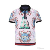 2018 Italien Luxury Brand Embroidery t shirts Mens Designer Polos Snake Little Bee Tiger Blumendruck Kleidung Medusa T-Shirt Anzug