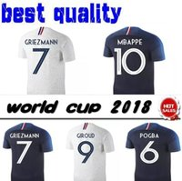 Wholesale Cotton Feet - 2018 Maillot national maillot De foot 2019 POGBA GRIEZMANN CABAYE BENZEMA PAYET soccer jersey World Cup shirts 18 19 Mbappé football jersey
