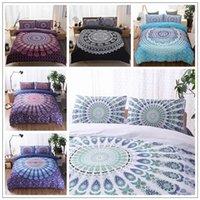 Wholesale Quilts Queen Beds - 5 Colors 3D Bedding Sets Queen Size Bohemian Mandala Bedding Quilt Duvet Cover Set Sheet Pillow Cover Bedding Set Gifts CCA9053 5set