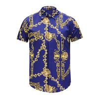 chemises italiennes pour hommes occasionnels achat en gros de-1368ASA New Mens Shirt Designer italienne Harajuku Medusa Mode Coton à carreaux Chemise Décontractée Homme à manches longues M-XXL